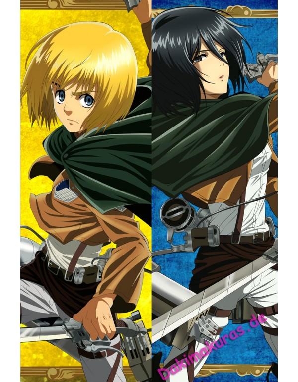 Attack on Titan Dakimakura kissen Billig Anime Kis...