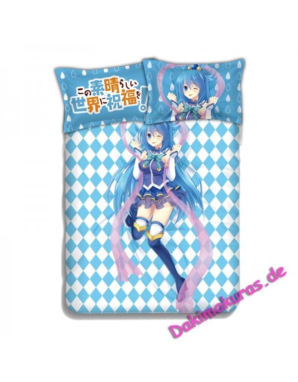 Aqua-KonoSuba Japanese Anime Bettwäsche Duvet Cov...