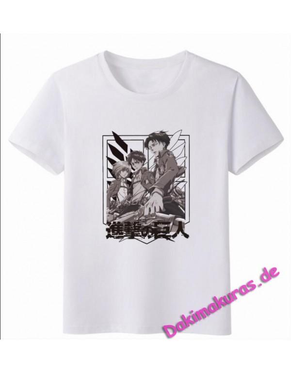 Attack on Titan White Men Anime Fashion T-shirts