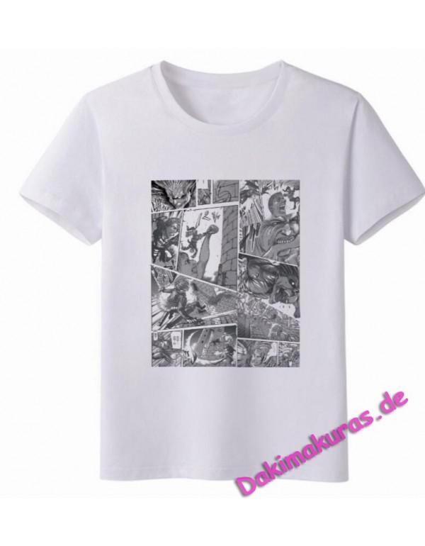 Attack on Titan White Men Anime T-shirts