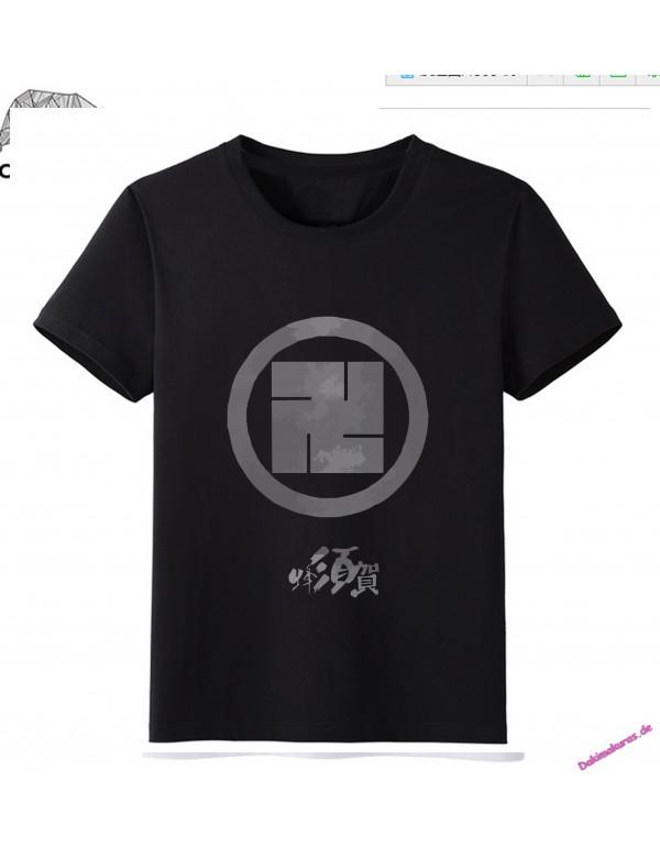 Black - Touken Ranbu Online Men Anime Fashion T-sh...