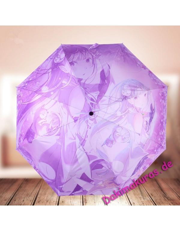 Emilia Re:Zero Foldable Anime Regenschirm