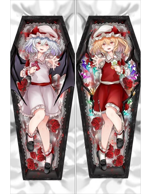 Touhou Project Remilia & Flandre Anime Dakimakura japanische Körper Kissenbezug